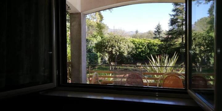 Camera con giardino nel Parco dell'Etna
