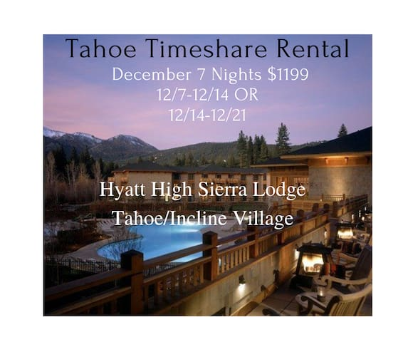 Hyatt High Sierra Lodge Incline Village