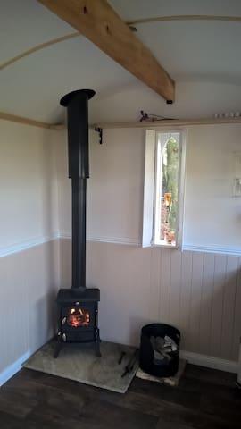 Cosy log-burner