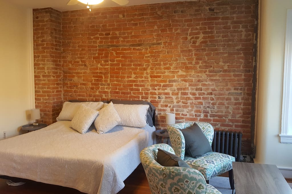 Beautiful exposed brick wall.