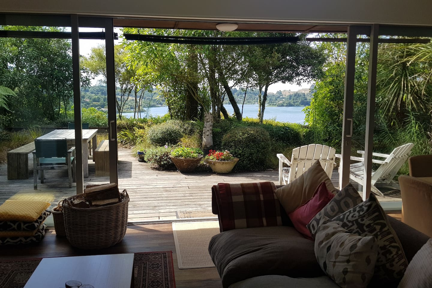 Enjoy indoor and outdoor living spaces, overlooking Lake Rotoiti
