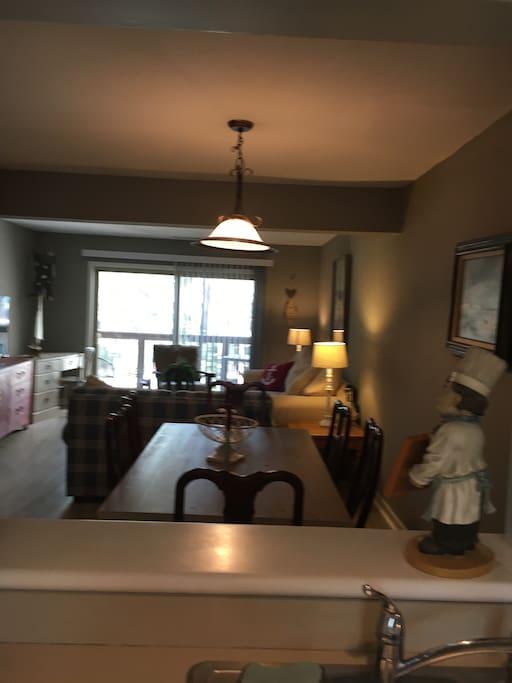 Open Floor plan kitchen-dining & Living area