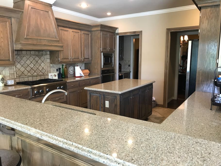 Fully equipped kitchen ready for a large family or large groups