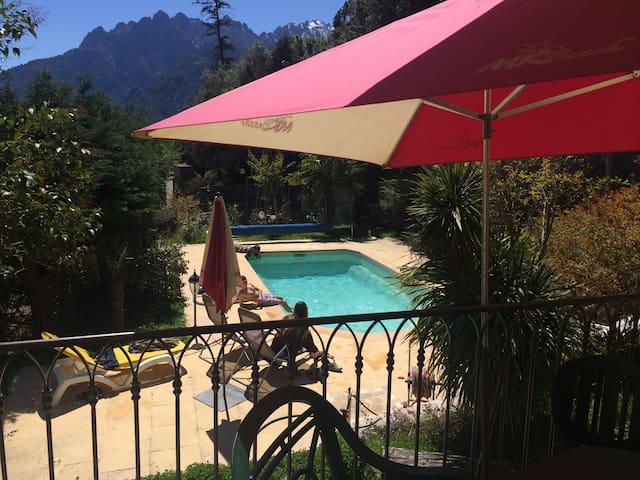 villa de village piscine   - Moltifao - Haus