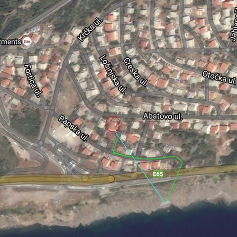 vicinity to sea, map, apartment Lara Senj