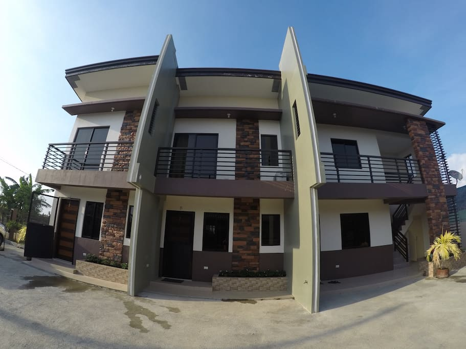 4 units for rent: Apartment A (left) and B (middle) ,8-10pax, Transient C(ground floor, right) and D(second floor, right), 4-5pax