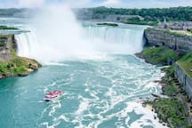 Our home is the closest to the Horseshoe Falls you can get!