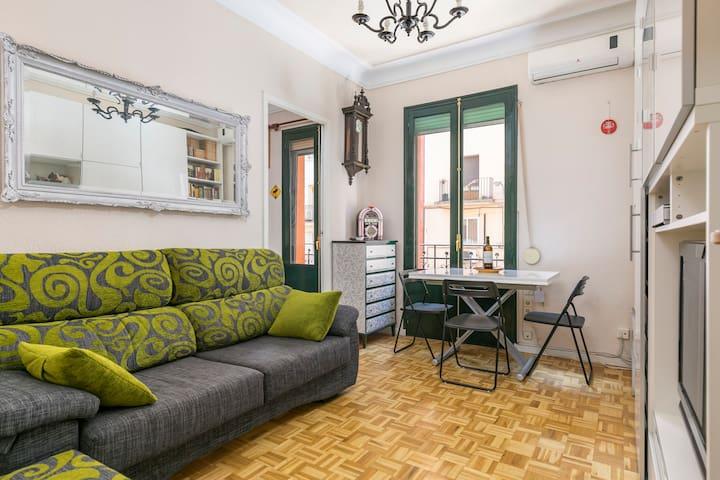 Acogedor apartamento cerca del Retiro y Atocha