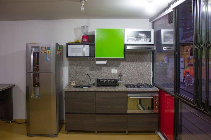 Moderno y acogedor apartaestudio en Chapinero