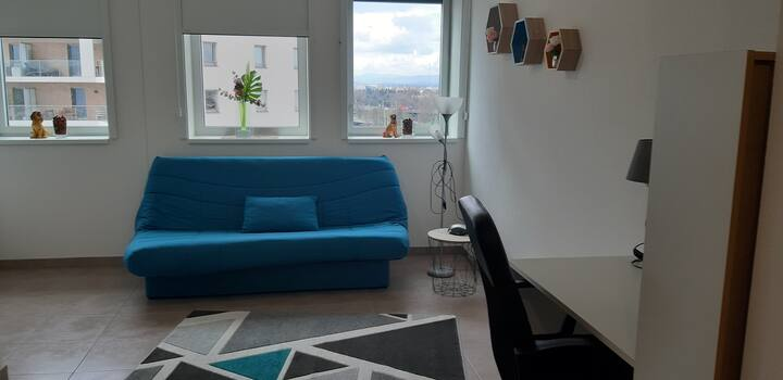 Strasbourg : studio neuf , résidence au calme