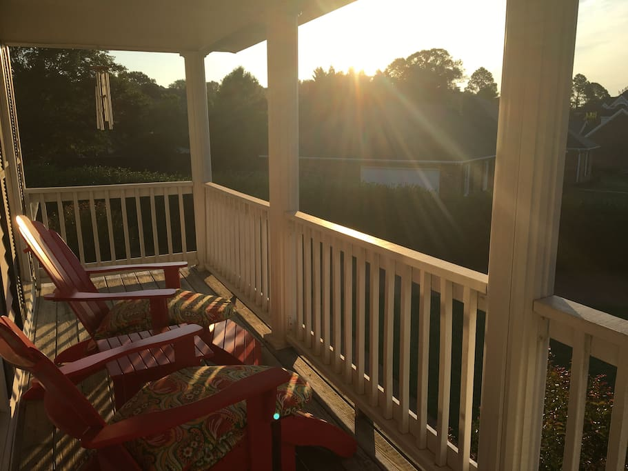 Wonderful views from the 2nd story Balcony.  Great for relaxing after a long day.
