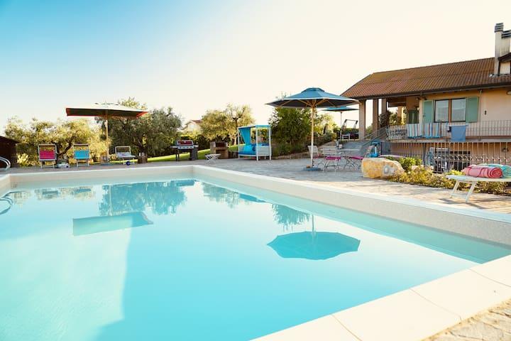 Villa Maremma mit Garten und Pool in Meeresnähe