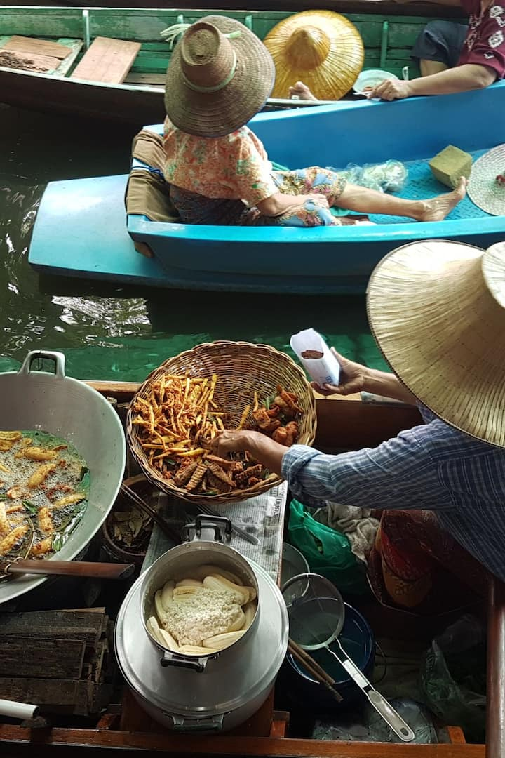 Deep fried banana on the boat
