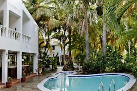 habitación Blue de hotel en una villa de lujo