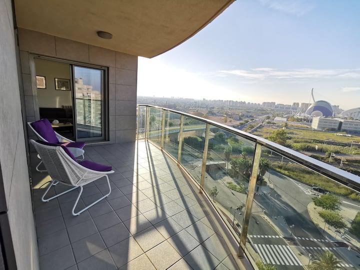 Oceanografic view Luxury Apartment, Parking,Wi-Fi