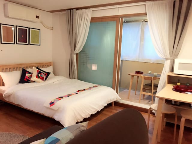 New Open! 3 min Seoul Station@Korean mood@Terrace! - Yongsan-gu - Appartamento