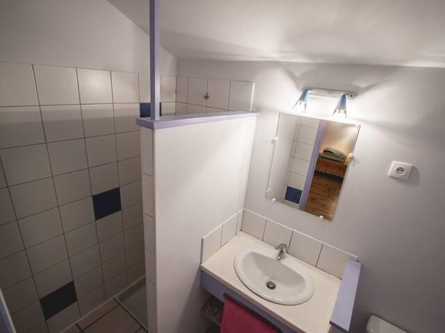 Salle de bains (douche) de l'étage