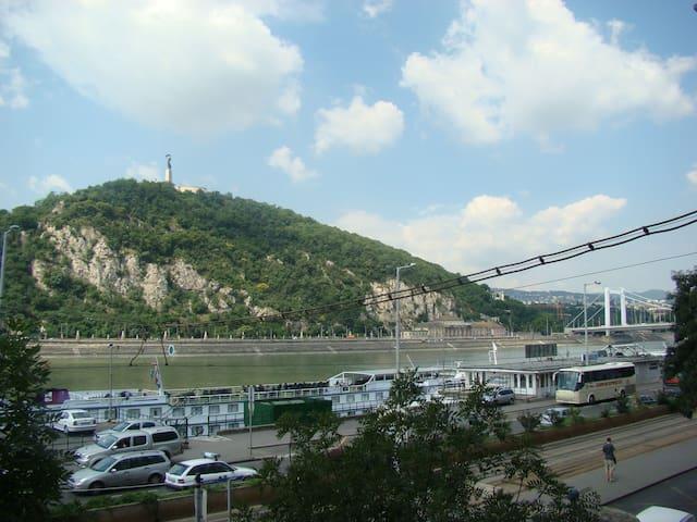 Panoramic Danube & Gellert Hill view.