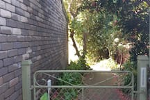 Secure fully fenced area surrounding  Apartment