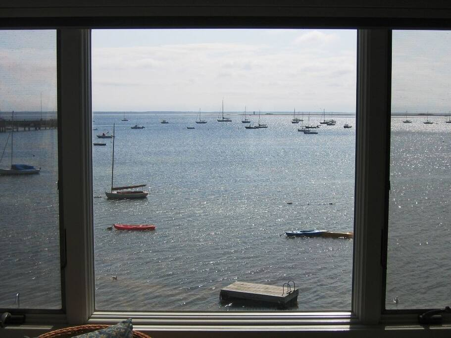 Gorgeous views of the harbor from the living room