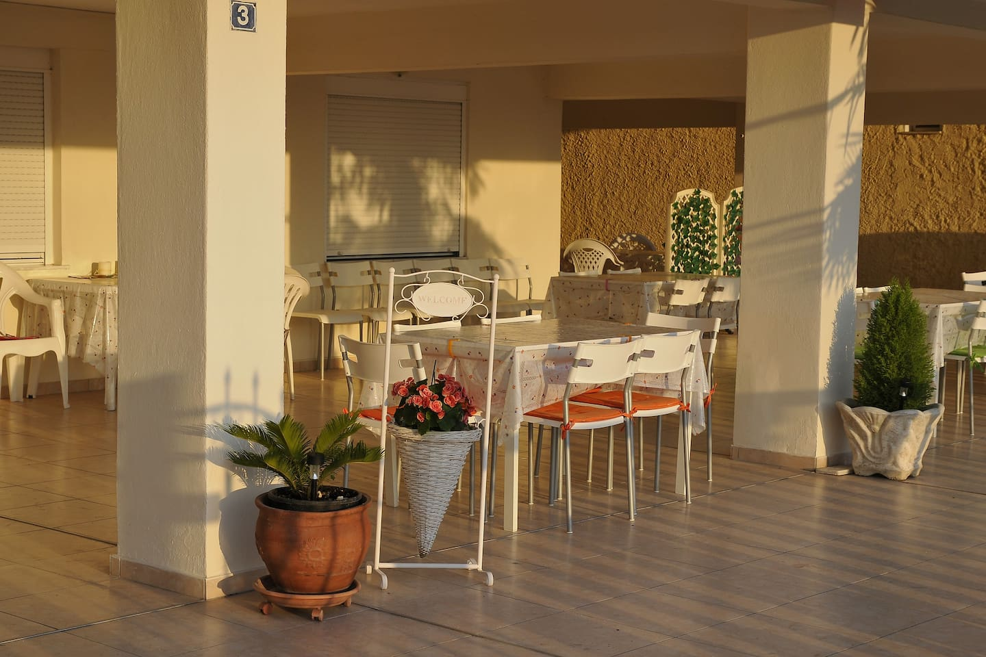 Shared Space In the Front Of Stefanos Apartments