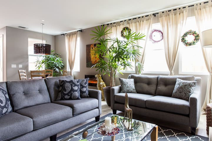 Modern and comfortable living room for your enjoyment.