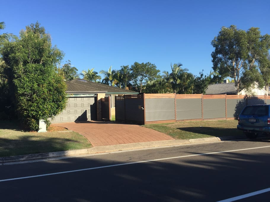 Fully-fenced property with off street parking