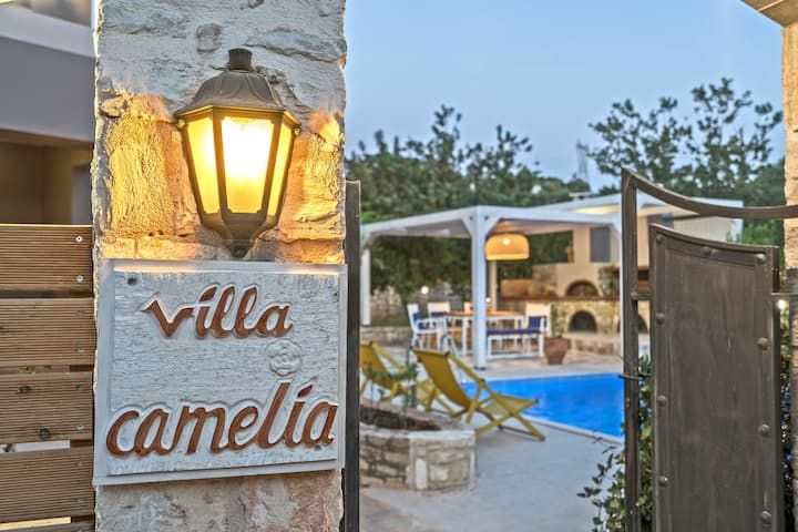 Villa Camellia Rethymno Holidays By the Pool !!!