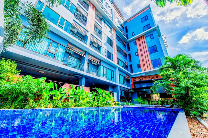 Quiet 1bedroom Apartment with nature view & pool