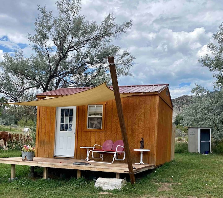 Wagon Wheel Ranch Pond Cabin; rough it in style!