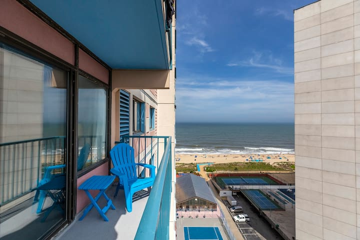 Capri 1303 is a Newly Renovated Ocean & Bay View Condo in the heart of OCMD.