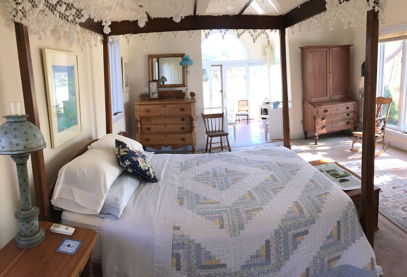 Your suite complete with private bath and sunroom with own entrance from garden