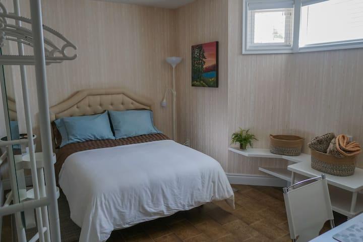 Quiet private bedroom + bathroom in Brampton.