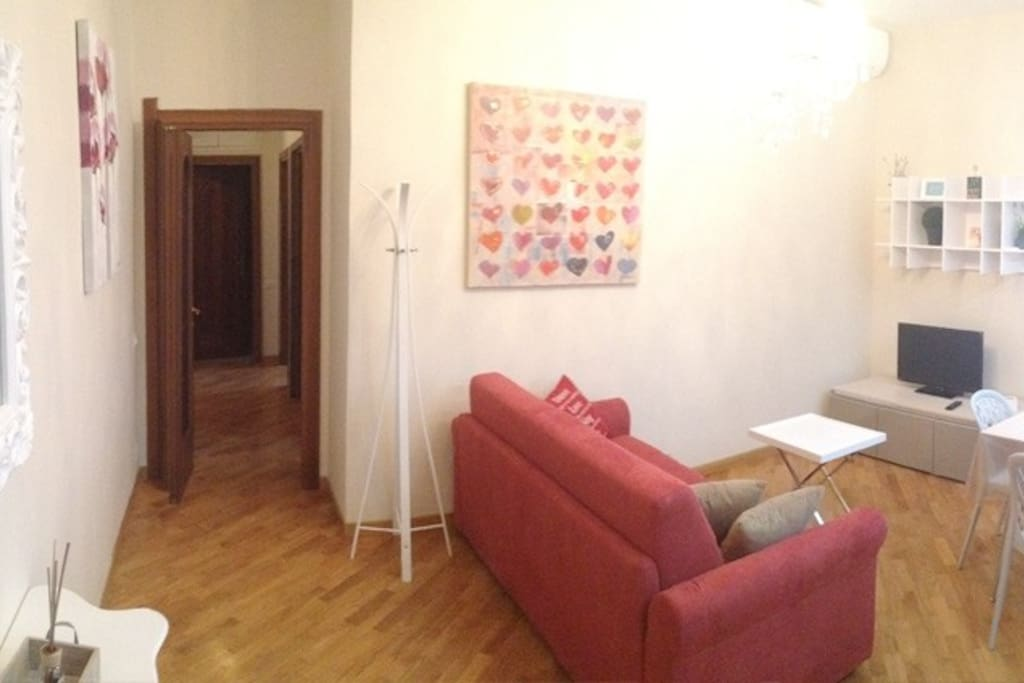 zona living e accesso alla zona notte :: living room and access to the sleeping area