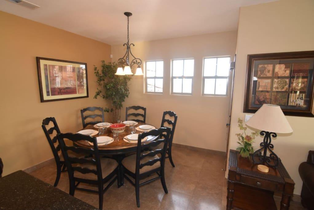 san felipe baja villa 77-3 dorado ranch dinner table