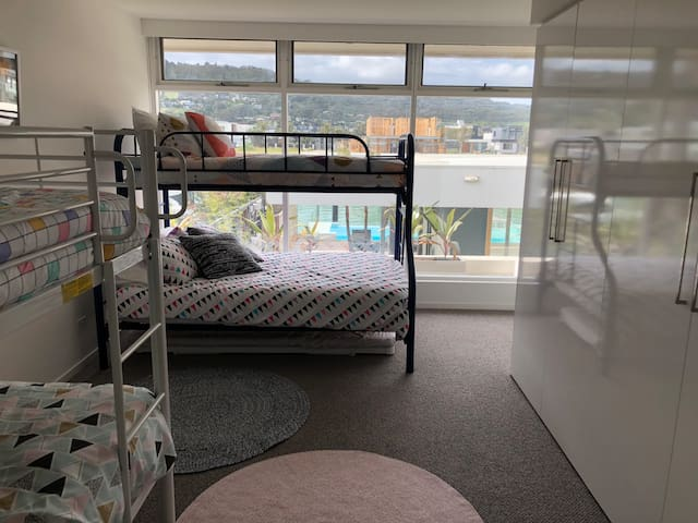 Bunk room (incl double bed bunk + trundle) sleeps 6