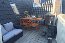 roof terrace with sun during the day