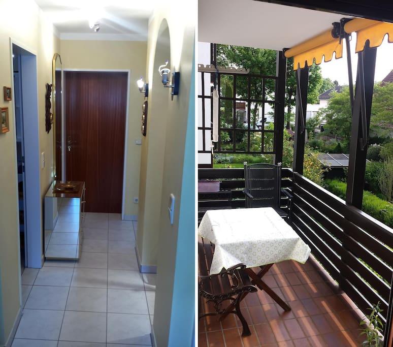 Gang mit Garderobe & West Balkon - Walkway with wardrobe & west balcony