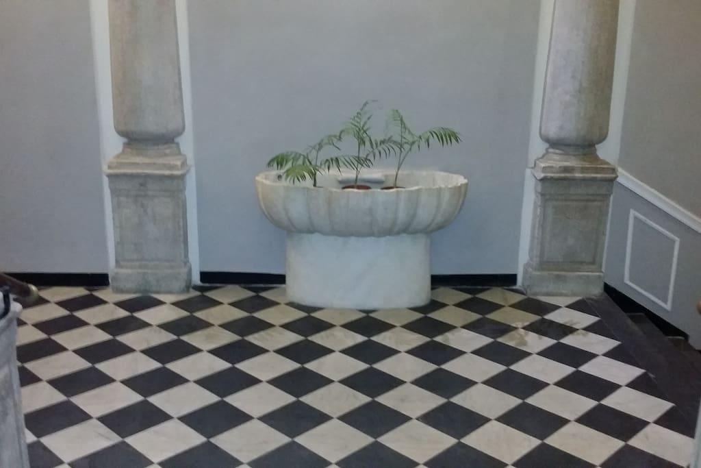 Particolare dell'interno del palazzo