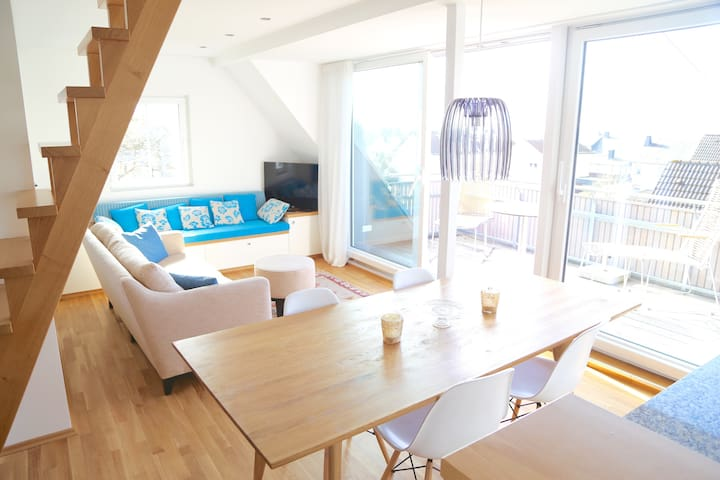 Bright holiday loft with Hunsrück panorama view - Emmelshausen - Flat