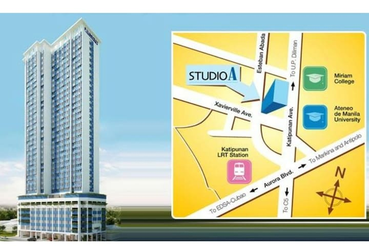 Studio A Katipunan, QC (available for Long Term!)