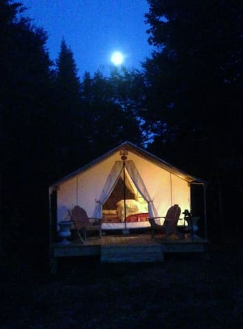 Night time tent