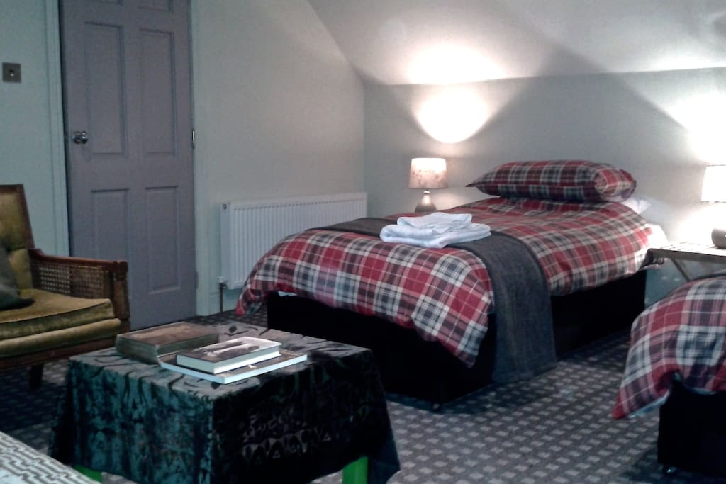 Room with two Single Beds, and optional pull out Sofa Bed