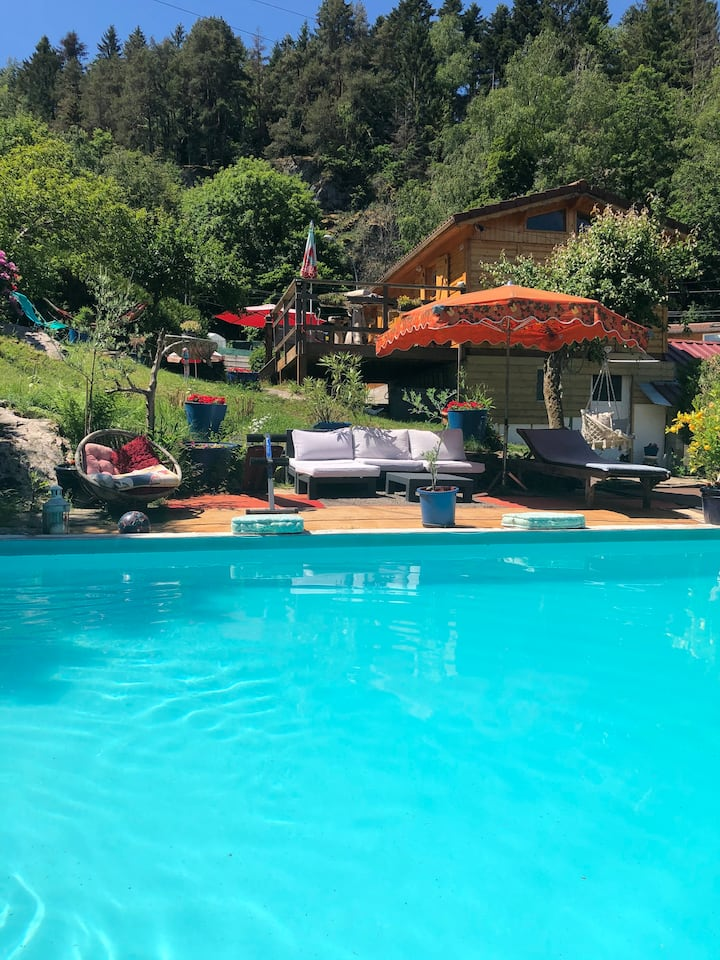 Chalet piscine et spa 4 à 6pers Vosges