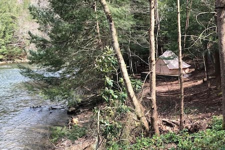 The Water's Edge  Glamping Tent