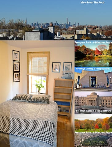 King Bed, Private Room in Crown Heights, Comedian