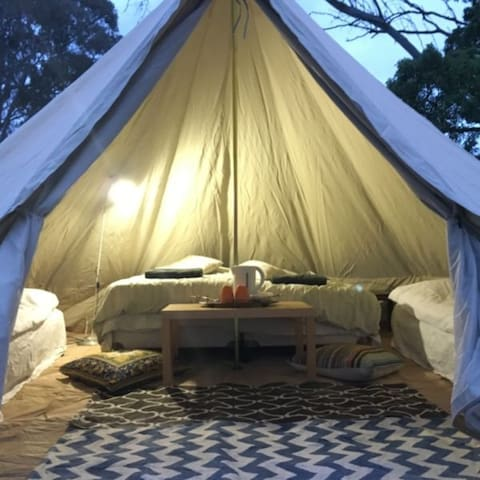 Glamping bell tents  - economical and romantic!