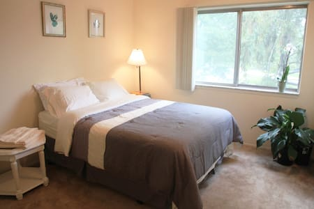Sunny Room Near MSU + Private bath! - East Lansing - Pis