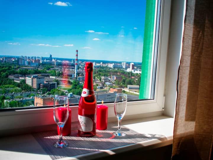 Jacuzzi VIP Grand LuxStudio Балкон Панорамный вид