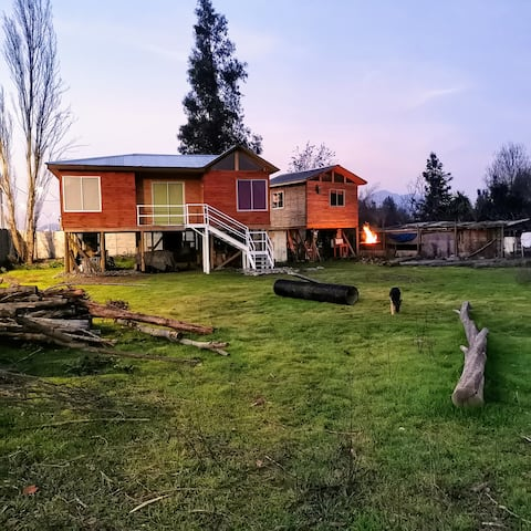 Cabaña de campo Familiar 45min de Stgo